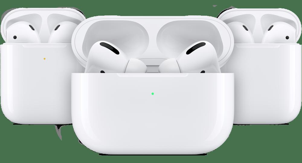 Просмотр состояния заряда аккумулятора AirPods в футляре