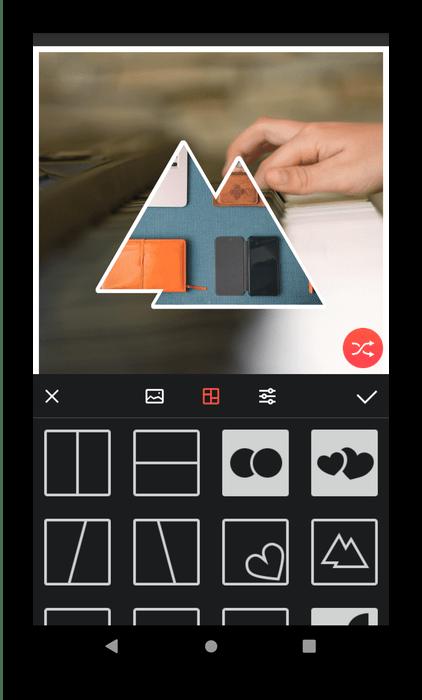 Работа в Lidow для создания коллажей на Android