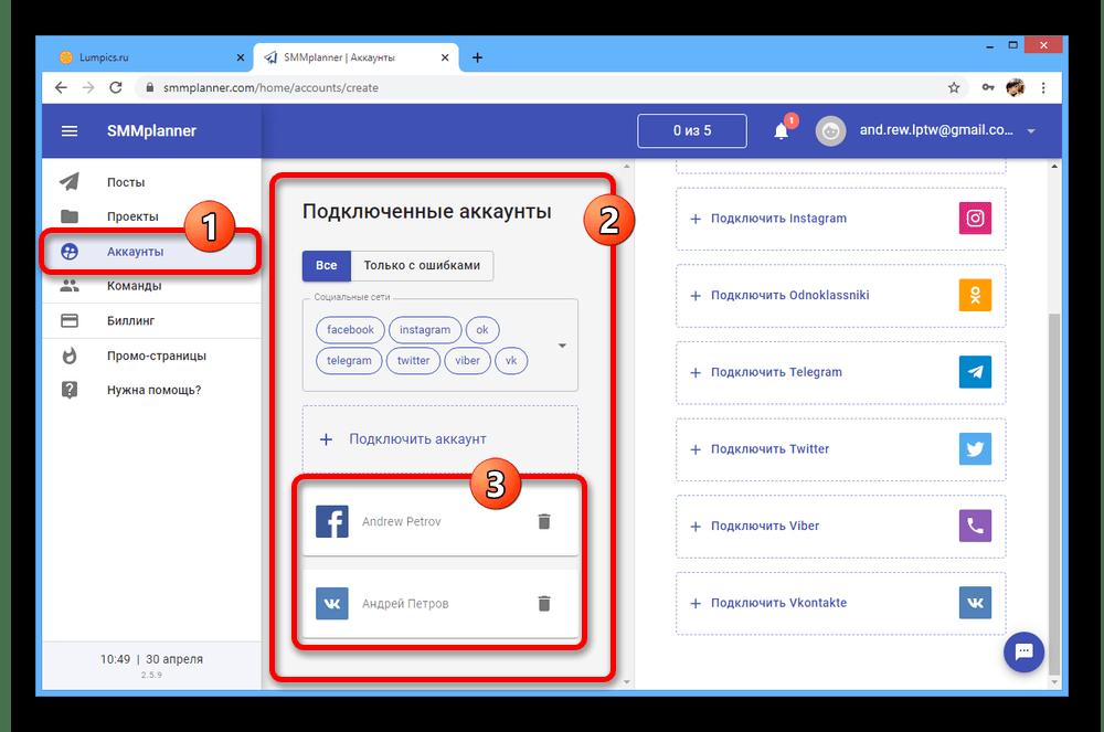 Успешное добавление социальных сетей на сайте SMM Planner