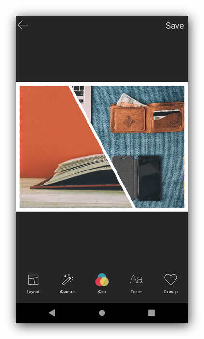 Варианты наложения в Mixoo Collage Pro для создания коллажа в Android