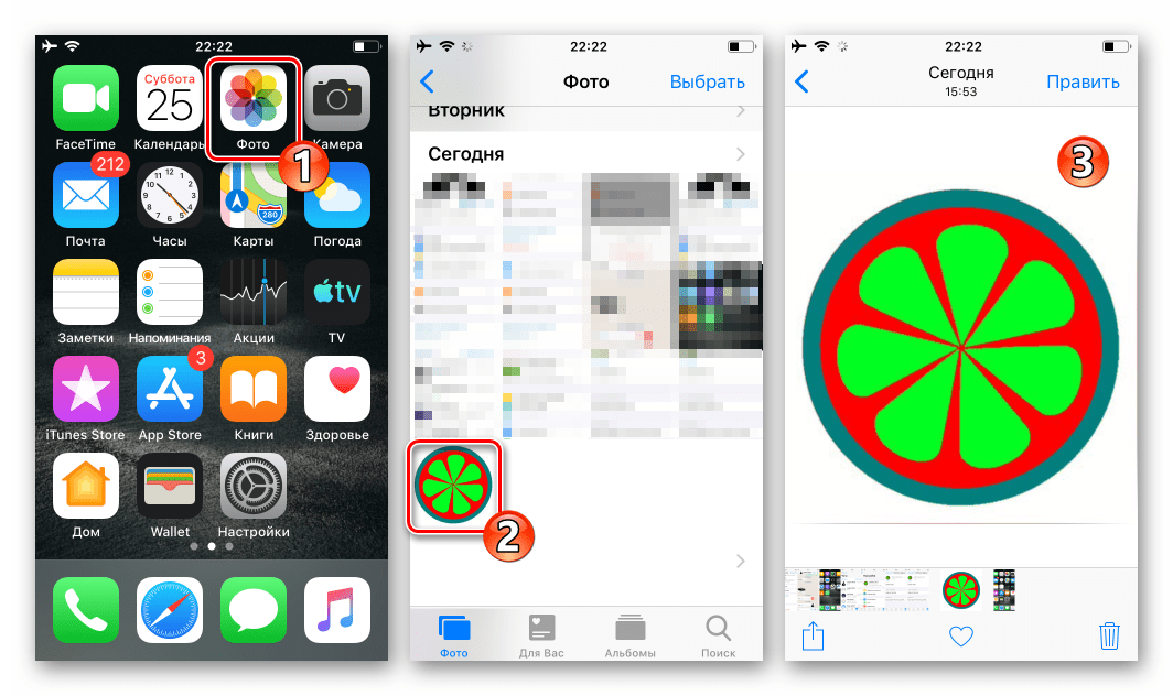 WhatsApp для iOS - доступ к сохраненной из мессенджера аватарке из программы Фото