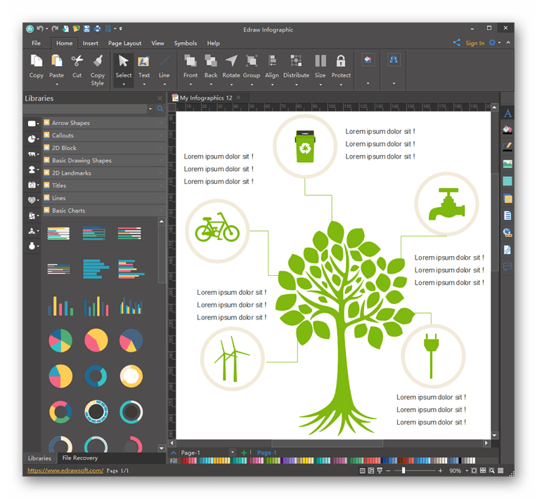 Использование программы Edraw Infographic для создания инфографики