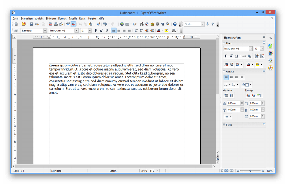 Использование программы OpenOffice Writer для создания резюме