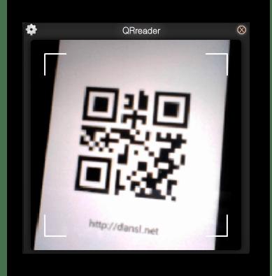 Использование программы QRreader для считывания QR-кодов