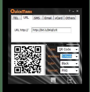 Использование программы QuickMark для считывания QR-кодов