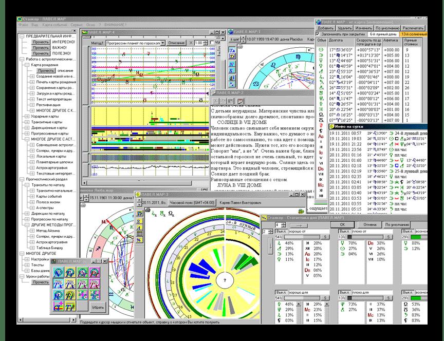 Использование программы Сталкер астропроцессор для формирования натальной карты