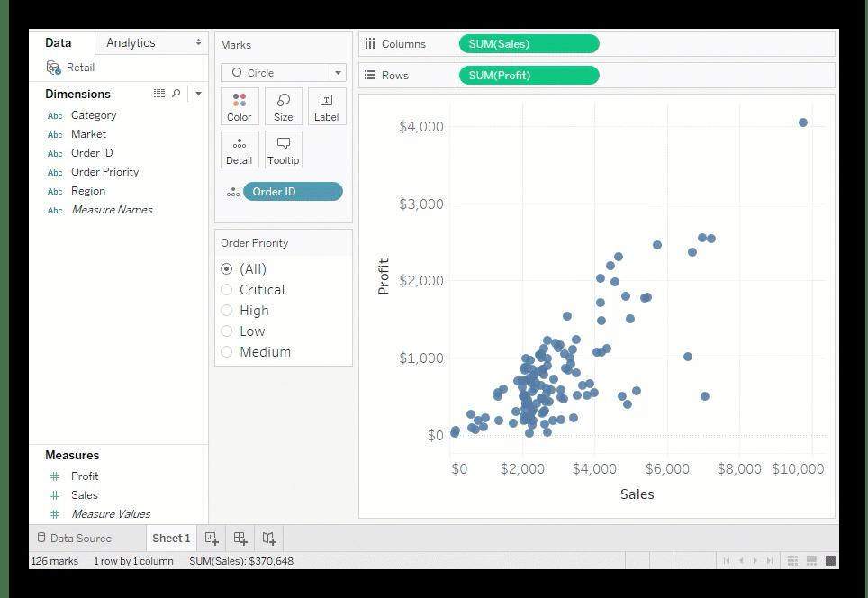 Использование программы Tableau Desktop для создания графиков на компьютере