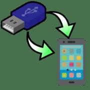 как перекинуть файлы с флешки на телефон