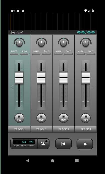 Приложение для записи песен J4T Multitrack Recorder
