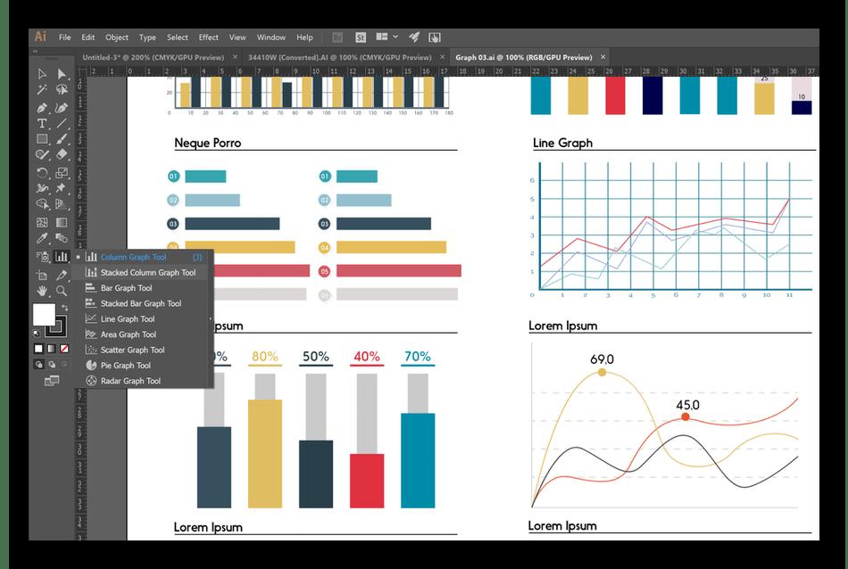 Создание инфографики при помощи программного обеспечения Adobe Illustrator