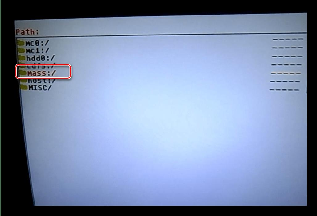 Доступ к содержимому иска для запуска игр с USB накопителя на PlayStation 2