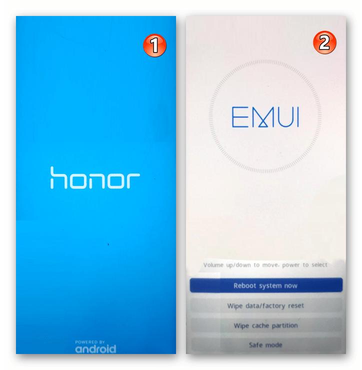 Huawei Honor 8A переход в среду восстановления (рекавери) смартфона