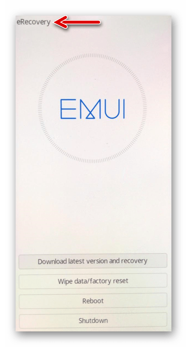 Huawei Honor 8A среда восстановления eRecovery на смартфоне
