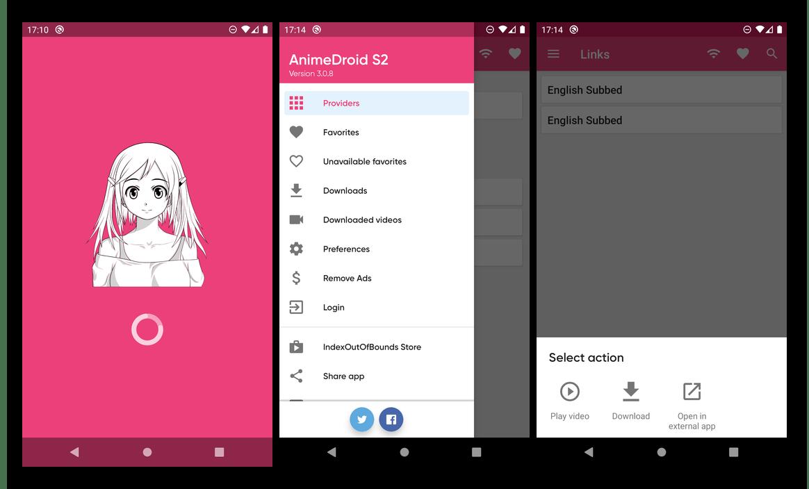 Интерфейс и возможности приложения AnimeDroid для просмотра аниме на Android