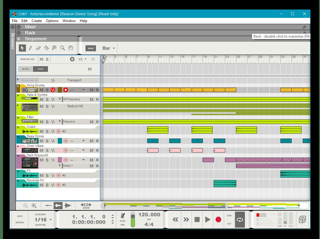 Использование программного обеспечения Reason для записи музыки