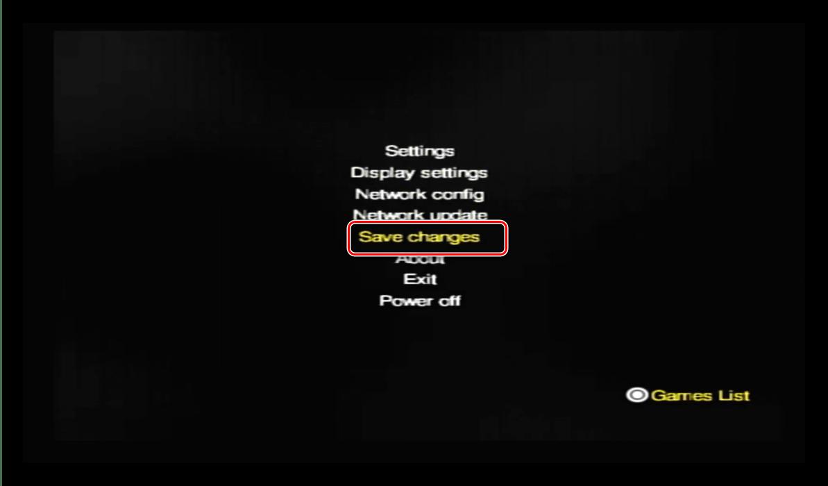 Сохранить настройки OPL для запуска игр с USB накопителя на PlayStation 2