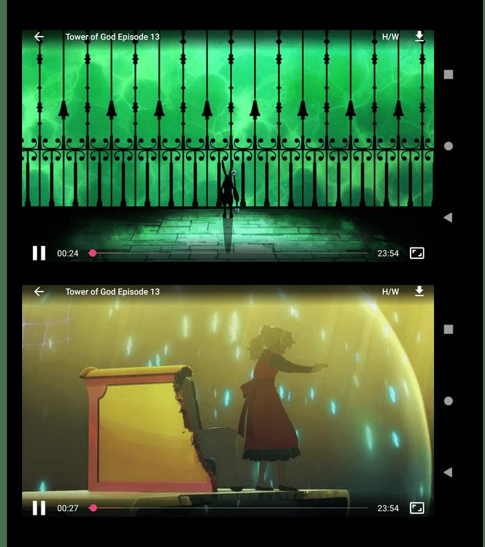 Встроенный плеер приложения AnimeDroid для просмотра аниме на Android