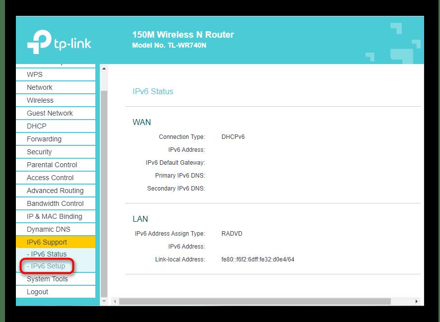 Выбор меню настроек протокола для решения проблемы IPv6 без доступа к сети в Windows 10
