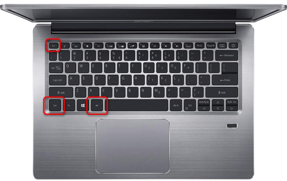 Вызов Диспетчера задач клавишами