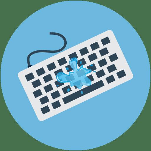Что делать, если залили клавиатуру