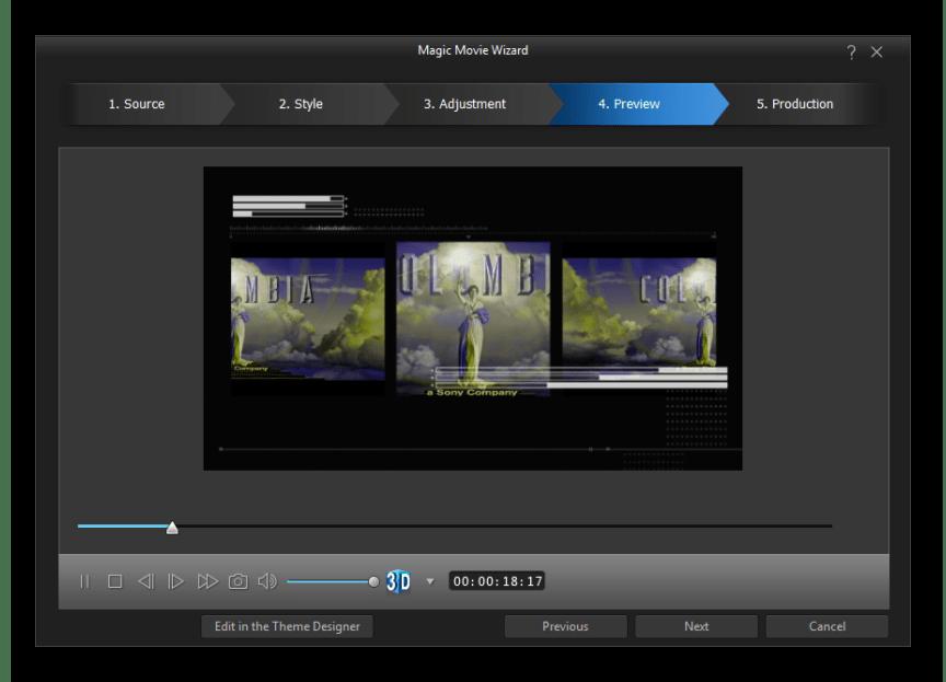 Использование программного обеспечения CyberLink PowerDirector для склейки видео