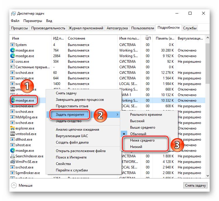 Изменение приоритета исполняемого файла и процесса в Windows 10