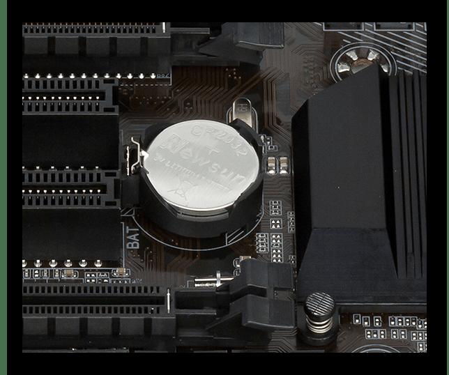 Изъятие батарейки с материнской платы для сброса настроек BIOS при не включающемся компьютере