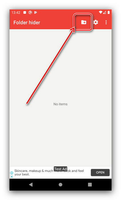 Почта для восстановления в Folder Hider для скрытия скрытых папок в Android