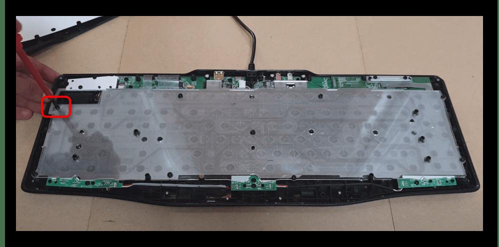 Отсоединение защитного слоя мембранной клавиатуры