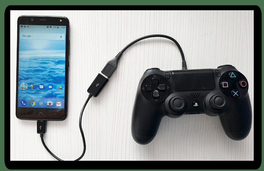 Подключение Dualshock 4 к Android по технологии OTG