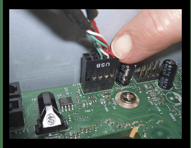 Подключение USB с передней панели к материнской плате