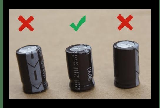 Просмотр состояния конденсаторов на материнской плате при ошибке CMOS checksum error - Defaults Loaded