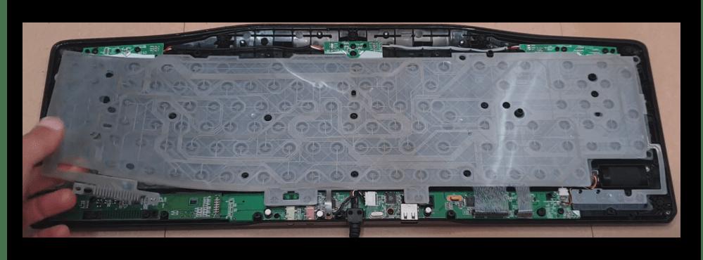 Снятие мембранного слоя клавиатуры