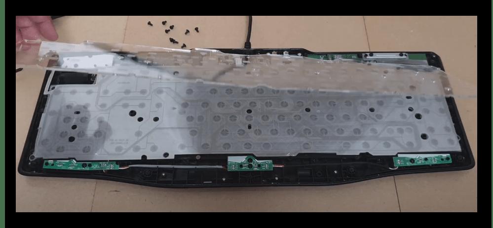 Снятие защитного слоя мембранной клавиатуры