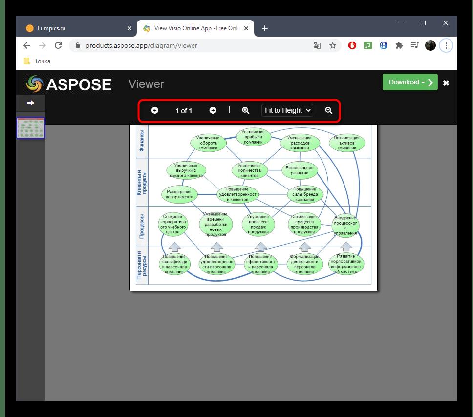 Дополнительные инструменты управления файлом VSD через онлайн-сервис Aspose