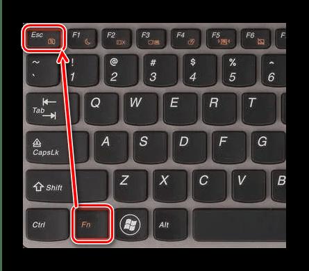 Комбинация клавиш для физического отключения камеры в ноутбуке с Windows 7