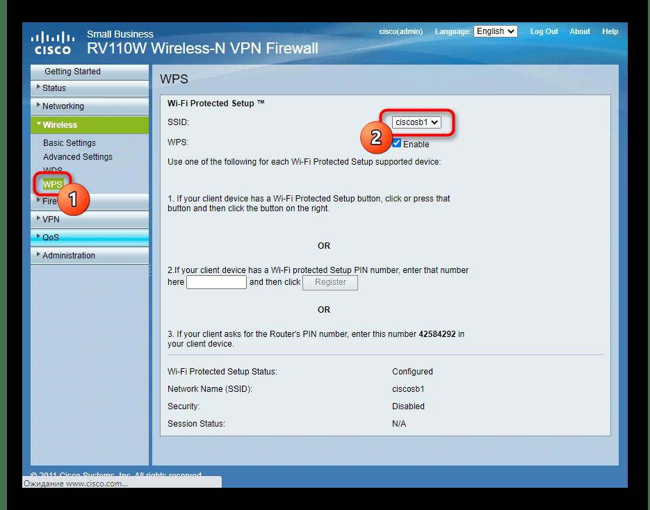 Настройка быстрого подключения к беспроводной сети роутера Cisco