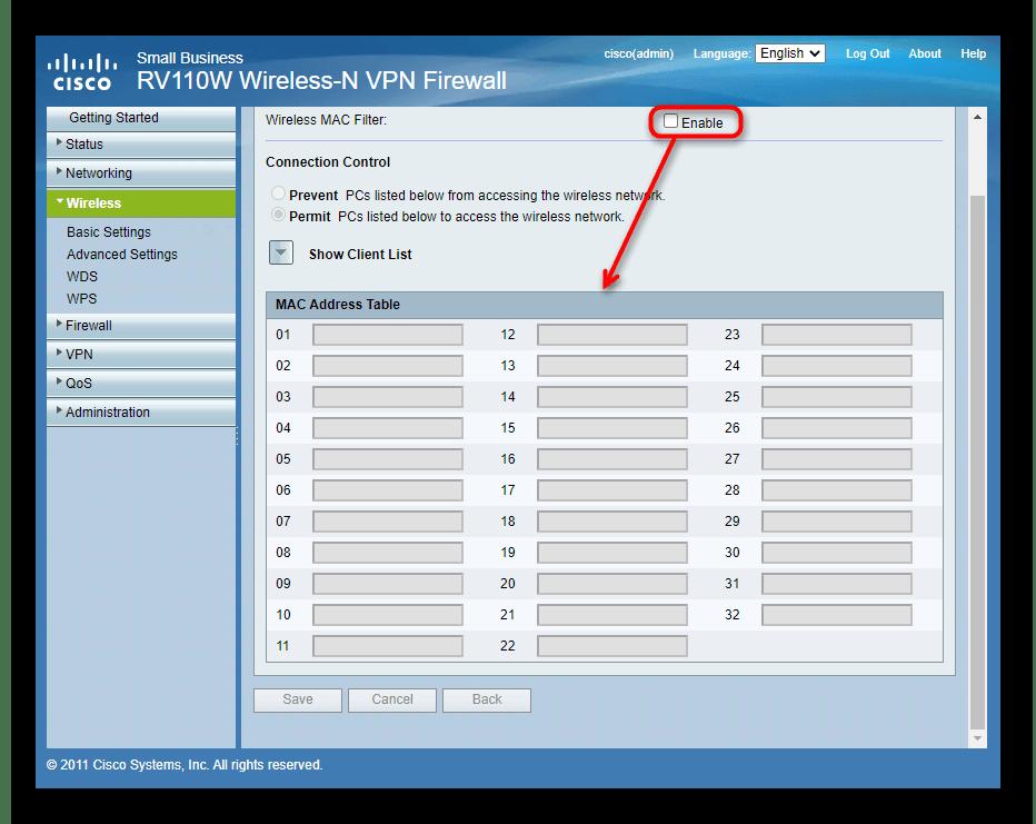 Настройка доступа к беспроводной сети роутера Cisco при ручной настройке