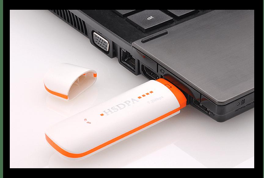 Подключение USB-модема ZTE к компьютеру для дальнейшей настройке
