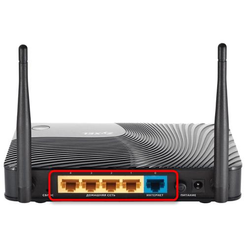 Проверка порта подключения сетевого кабеля при проблемах с отображением индикатора интернета