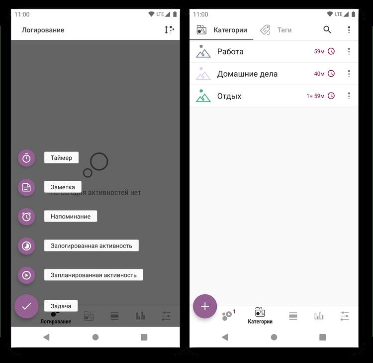 Создание задач в приложении для тайм-менеджмента Планнер времени - Трекер, Список Задач, Расписание на Android