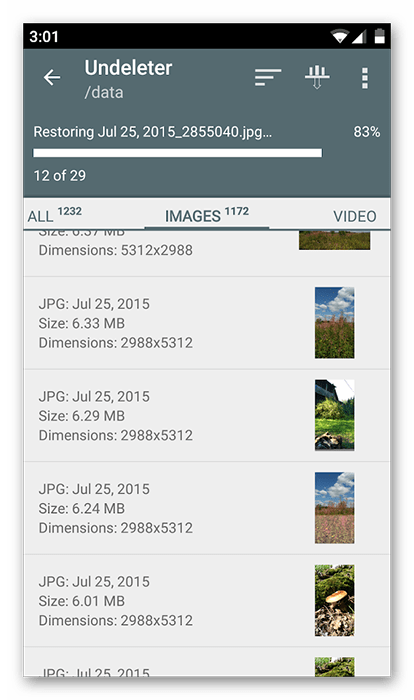 Восстановление удалённых заметок в Android посредством восстановления файлов