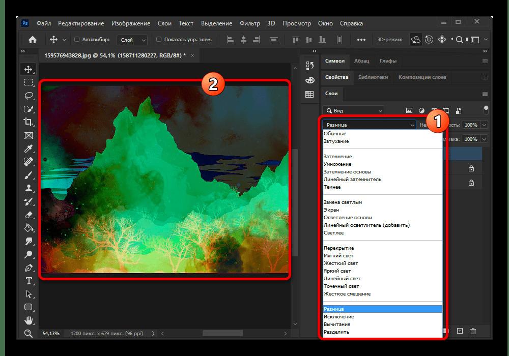 Использование различных эффектов наложения в Adobe Photoshop