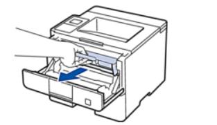 Извлечение фотобарабана с тонером для замены картриджа принтера Brother