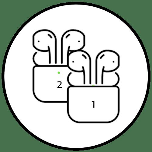 Как отличить наушники AirPods от AirPods 2