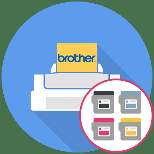 Как вставить картридж в принтер Brother
