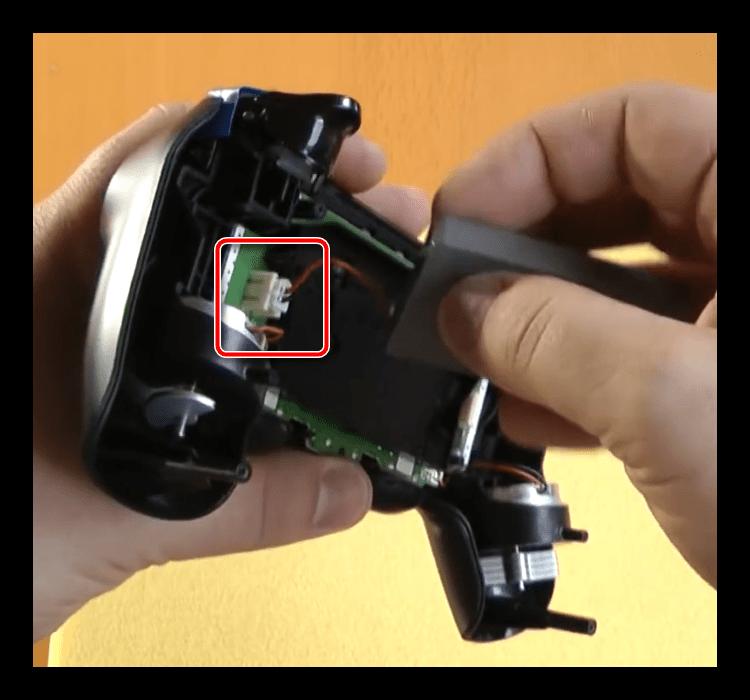 Отключить батарею для разборки первой ревизии джойстика ps4