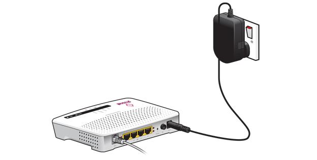 Подключение маршрутизатора к сети для дальнейшей настройки через беспроводную точку доступа