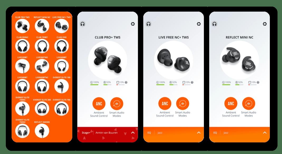 Приложение для настройки беспроводных наушников на iPhone