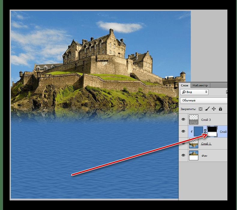 Пример создания эффекта отражения в Adobe Photoshop